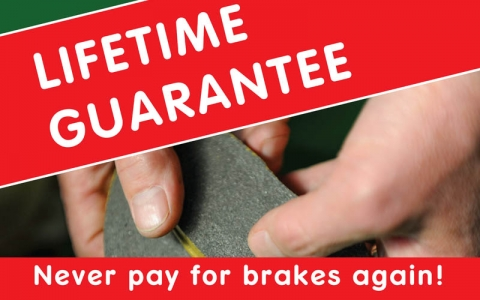 Lifetime Guarantee Brake Pads